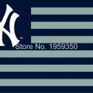 New York Yankees Stripe flag 3ftx5ft Banner 100D Polyester Flag metal white sleeve