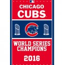 Chicago Cubs flag 3ftx5ft with metal Grommets chicago cubs champions flag