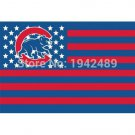 3X5FT Chicago Cubs Flag banner 100D Polyester Flag metal Grommets free shipping