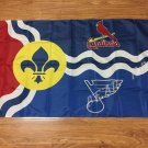 St.Louis State Cardinals Blues Flag 3ft x 5ft 100D Banner design