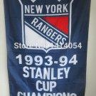 New York Rangers Champions Flag 150X90CM  3x5 FT Banner 100D Polyester