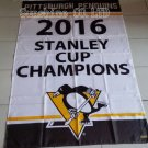 Pittsburgh Penguins 2016 Stanley Cup Champion Flag hot sell goods 3x5 FT