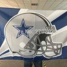 Dallas star Cowboys Helmet Flag blue star Helmet Premium Team Polyester 3ft X 5ft