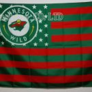 Minnesota Wild USA With Stars and Stripes Flag hot sell goods 3X5FT