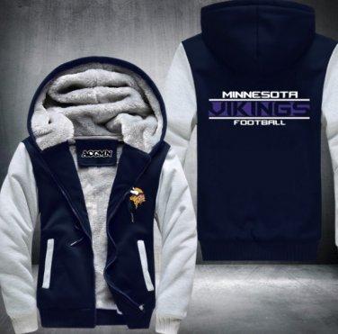 buy popular eaa11 59845 Minnesota Vikings Jacket Super Warm Thicken Fleece Zip Up ...