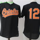 12 Roberto Alomar Men Stitched Jersey Size S to 3 XL black