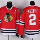 2 Duncan Keith Stitched Jersey Size S to 3 XL red