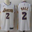 2 Lonzo Ball  Stitched Jersey Size S to 3 XL white