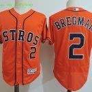 2 Alex BregmanStitched Jersey Size S to 3 XL orange