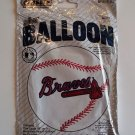 "18"" ATLANTA BRAVES MAJOR LEAGUE BASEBALL FOIL HELIUM MYLAR BALLOON FREE SHIPPING"