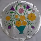 "18"" FLOWERS IN VASE MYLAR BALLOON FREE SHIPPING"