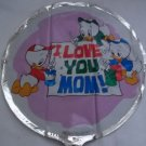"18""  LOVE YOU MOM MYLAR BALLOON FREE SHIPPING"