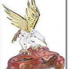 28212 Glass Eagle on Simulated Wood Ceramic Treasures FREE SHIPPING