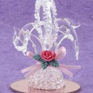 22556 ~ Spun Glass Dolphins ~ Ceramic Treasures