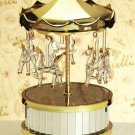 22770 ~ Musical Glass Circus Top Carousel ~ Ceramic Treasures