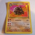 Golem Pokemon Card 36/62 FREE Shipping
