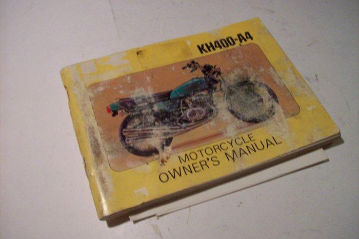 1977 Kawasaki KH400-A4 Original Owner's Manual Vintage RARE