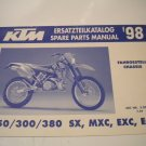 1998 KTM Spare Parts Manual  Chassis 250 300 380 sx mxc exc egs