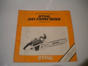 stihl 041 farm boss chainsaw owners manual instruction owner s chain saw rh bertandernies ecrater com Stihl 041 Schematics stihl 041 farm boss parts manual