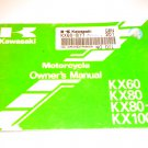 Kawasaki KX60 / KX80 / KX80-II / KX100 Owners Manual Owner's Guide