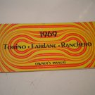 1969 Ford Torino Fairlane Ranchero Owners Manual Owner's Guide