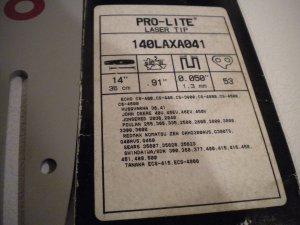 "Oregon 14"" Pro-Lite Laser Tip Chainsaw Bar Blade Guide echo redmax husqvarna sears"