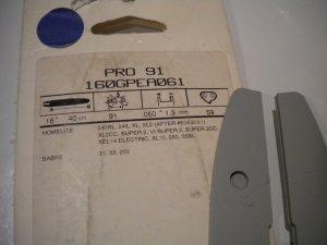 "Oregon 16"" Pro Chainsaw Bar Blade Guide Chain Saw 160GPEA061 HomeLite Sabre"