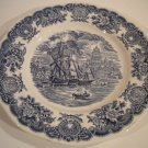 Historical Ports of England Stoneware Blue / white Dinner Plates