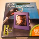 NEW Shift 3 DIGITAL PHOTO KEYCHAIN Purple frame NIB album 60 pictures 8 Mb 1.5""