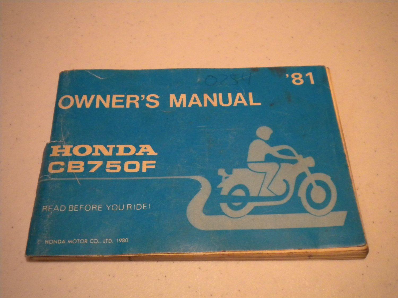 Honda Cb750f Owner S Manual 1981 Honda Motor Co Ltd