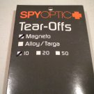 Spy Optic Magneto Tear-Off Systems CLEAR 10 pack Tear Off Offs