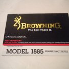 Browning MODEL 1885 SINGLE SHOT RIFLE Instruction Manual, Original