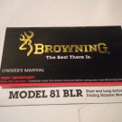 Browning MODEL 81 BLR LEVER ACTION RIFLE Instruction Manual, Original