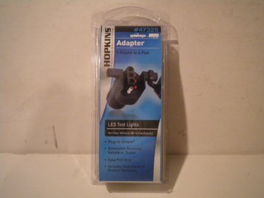 Hopkins/6 pole round to 4 wire flat LED adapter