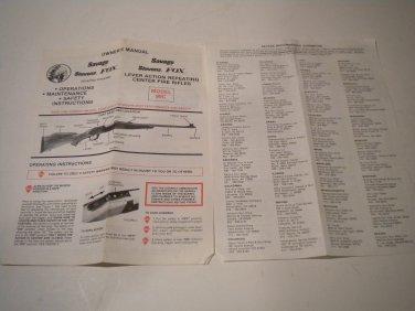 savage stevens fox owner s manual for the model 99c savage rh bertandernies ecrater com Cartoon Manual Service Manuals