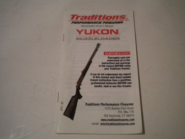 Traditions Yukon Inline Muzzle Loading Rifle Owner's Manual, NICE!