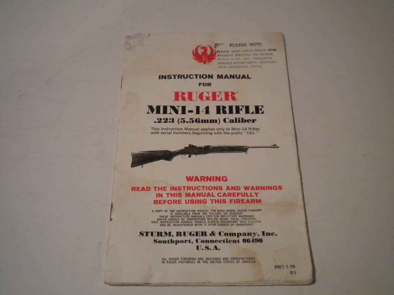 ruger mini 14 rifle owner s manual 1979 nice rh bertandernies ecrater com ruger mini 14 owners manual pdf Ruger Mini-14 ManualDownload