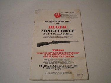 ruger mini 14 rifle owner s manual 1979 nice rh bertandernies ecrater com ruger mini 14 tactical owners manual pdf ruger mini 14 target owner's manual