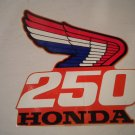 HONDA RETRO WING DECAL CR 250 #87126-KS7-700: Honda. Mark, right shroud