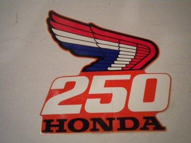 HONDA RETRO WING DECAL CR 250 #87126-KS7-700: Honda. Mark, right shroud