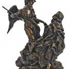 """Ecstasy Of St. Teresa Of Avila Statue, Cold Cast Bronze, 8.5"""""""