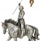 """St. Joan Of Arc, Pewter Style Finish, Golden Highlights, 10x11"""""""