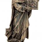 "St.Luke Statue,Veronese,Lightly Hand-Painted Cold Cast Bronze, 8"""
