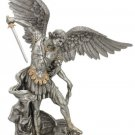 """St. Michael, Pewter Style Finish, 29"""""""
