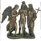 "Baptism Of Christ Statue, Cold-Cast Bronze, 10.75"""