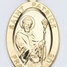 Gold over Sterling Silver Saint Patrick Medal
