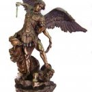 """St.Michael Statue-Veronese,Lightly  Hand-Painted Cold Cast Bronze, 10"""""""