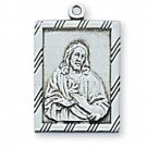 Sterling Silver Sacred Heart Of Jesus Medal 18 inch Chain & Box