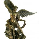"""St. Michael Statue, Cold-Cast Bronze,   10"""""""