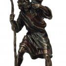 "St. Christopher Statue, Cold-Cast Bronze, 8.5"""